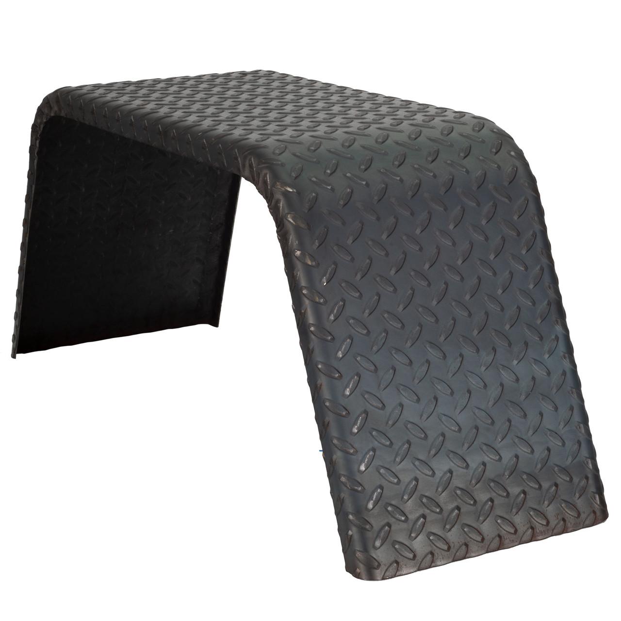 Steel Diamond Plate Single Axle Trailer Fenders 32 X 13 X 10 Recpro