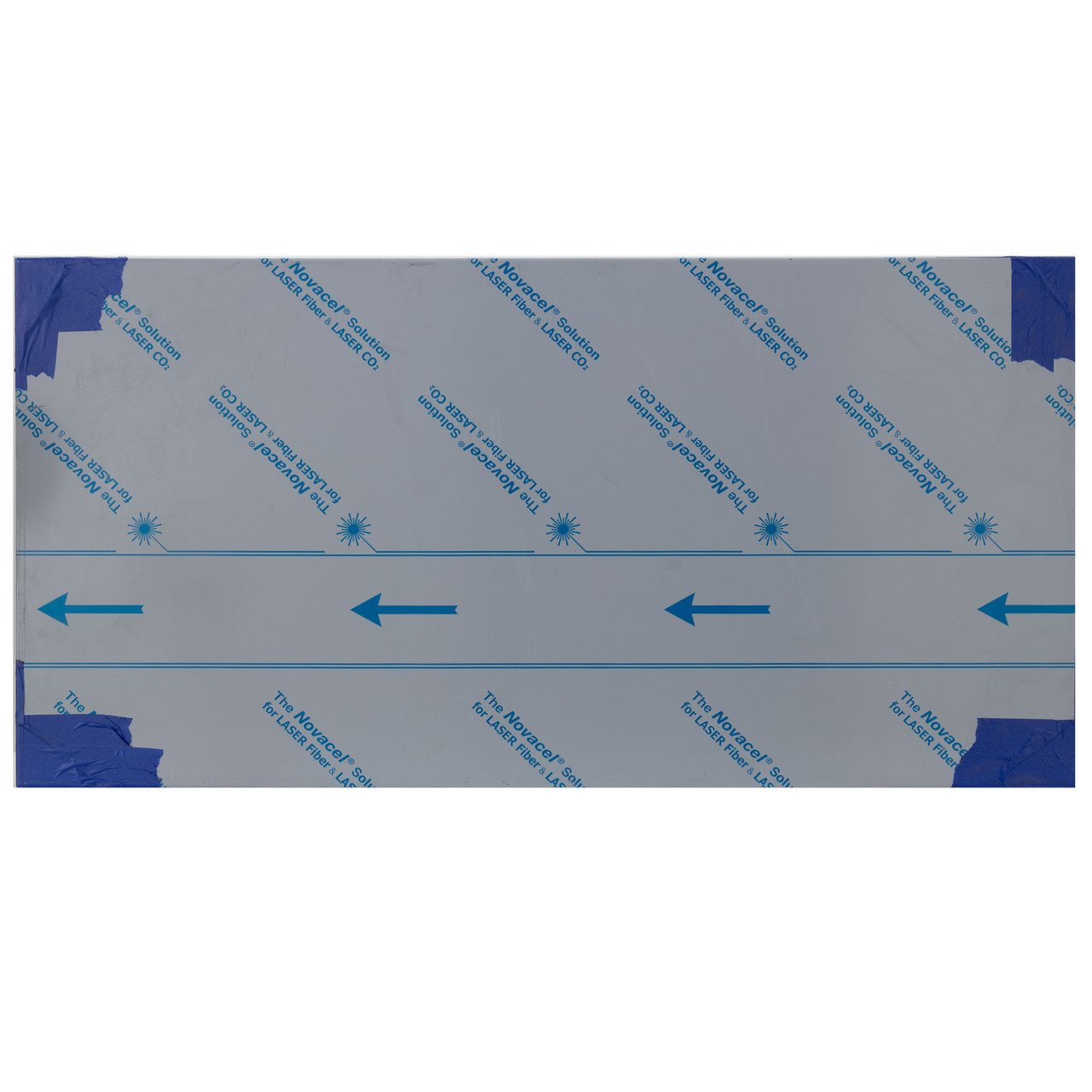 """NOVACEL SOLUTION STAINLESS STEEL 4 8/"""" X 14/""""  PLASTIC ONE SIDE SHEETS  16 GA"""