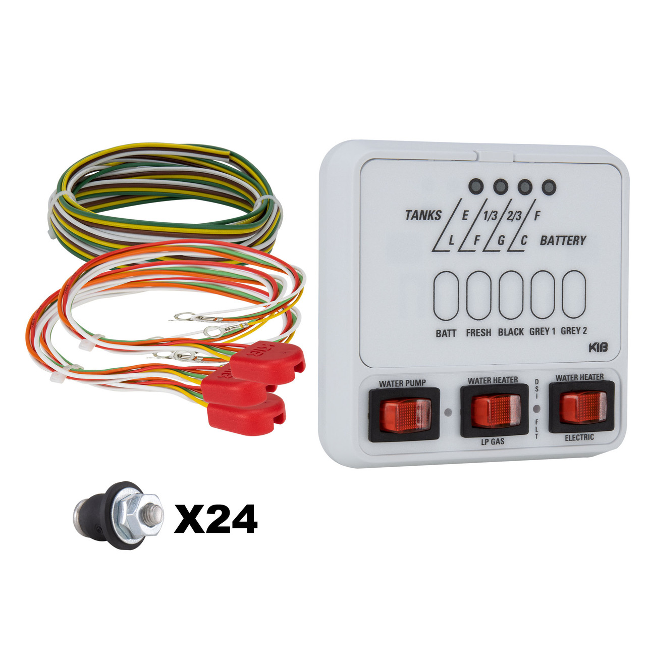 RV KIB Tank Sensor Monitor Panel M25 with Wiring Harness Kit - RecProRecPro