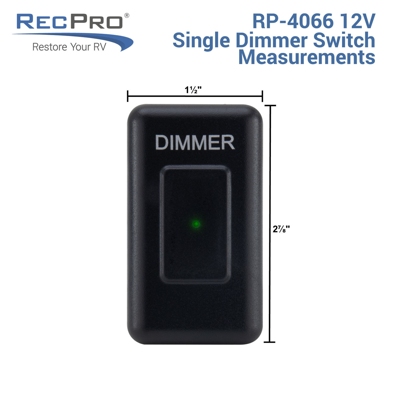 12v Dimmer Switch >> Rv 12v Dimmer Switch Touch Recpro