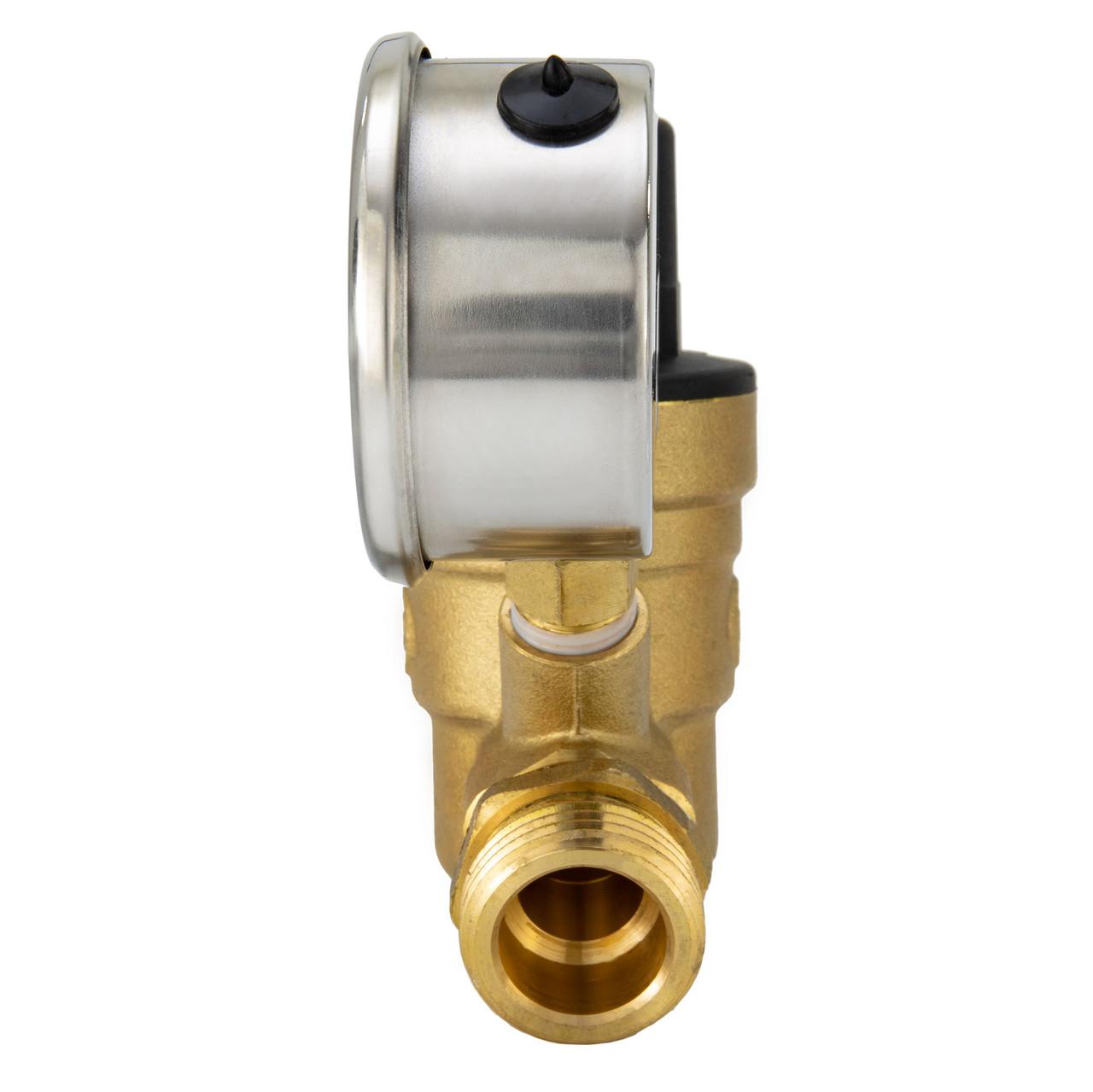 Rv Brass Water Pressure Regulator With Gauge Recpro