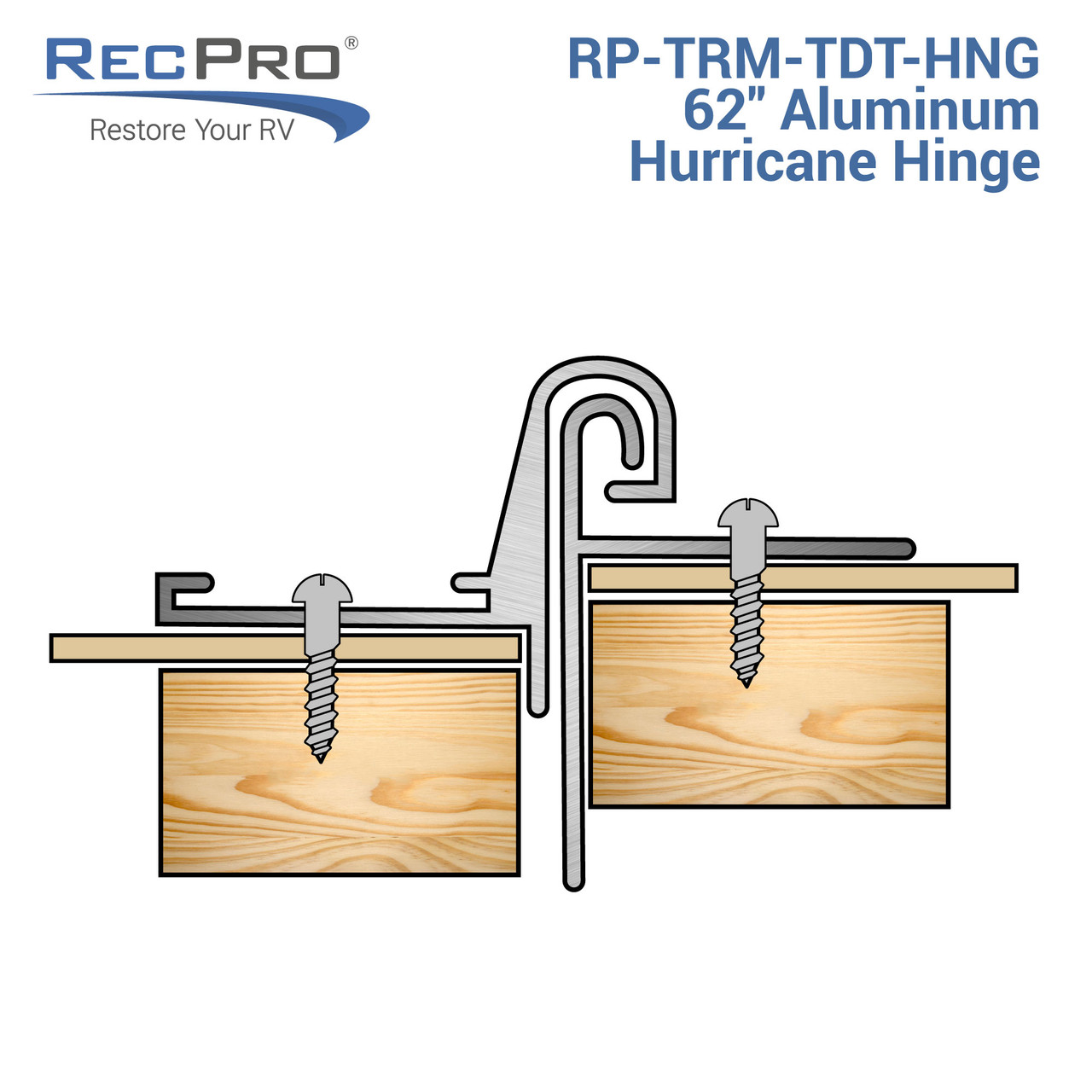 "RV Teardrop Tear Drop Trailer 72/"" Aluminum Hurricane Hinge"
