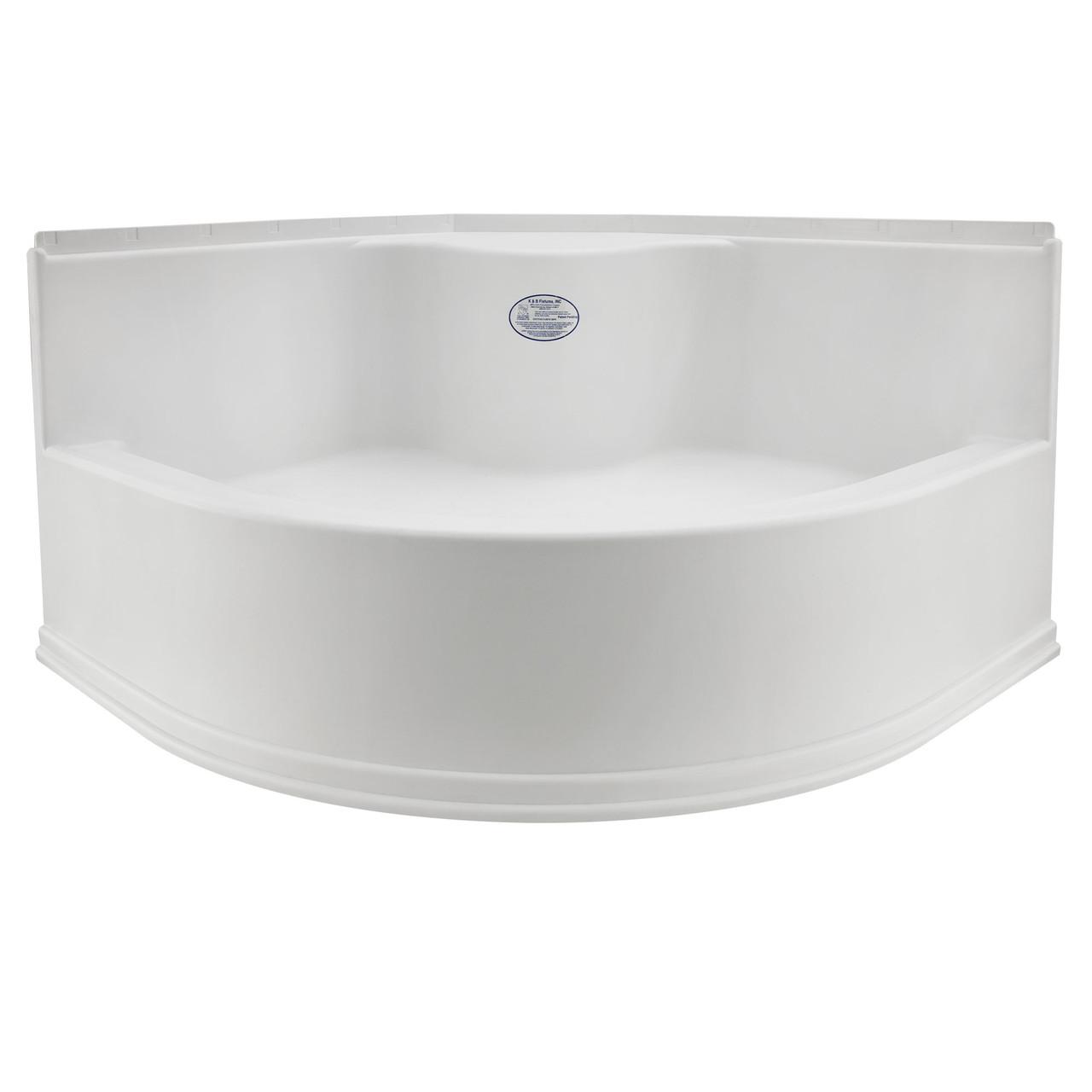 RV Shower Base Camper Shower Pan 36 x 24 x 5 Left Drain in White RecPro RV Shower Pan