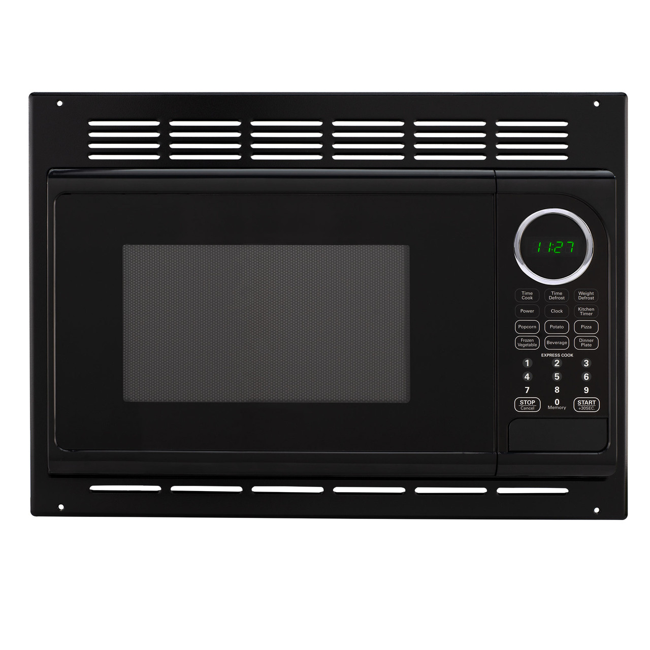 Greystone RV Trailer Built-in Microwave Oven W//Trim Kit Black