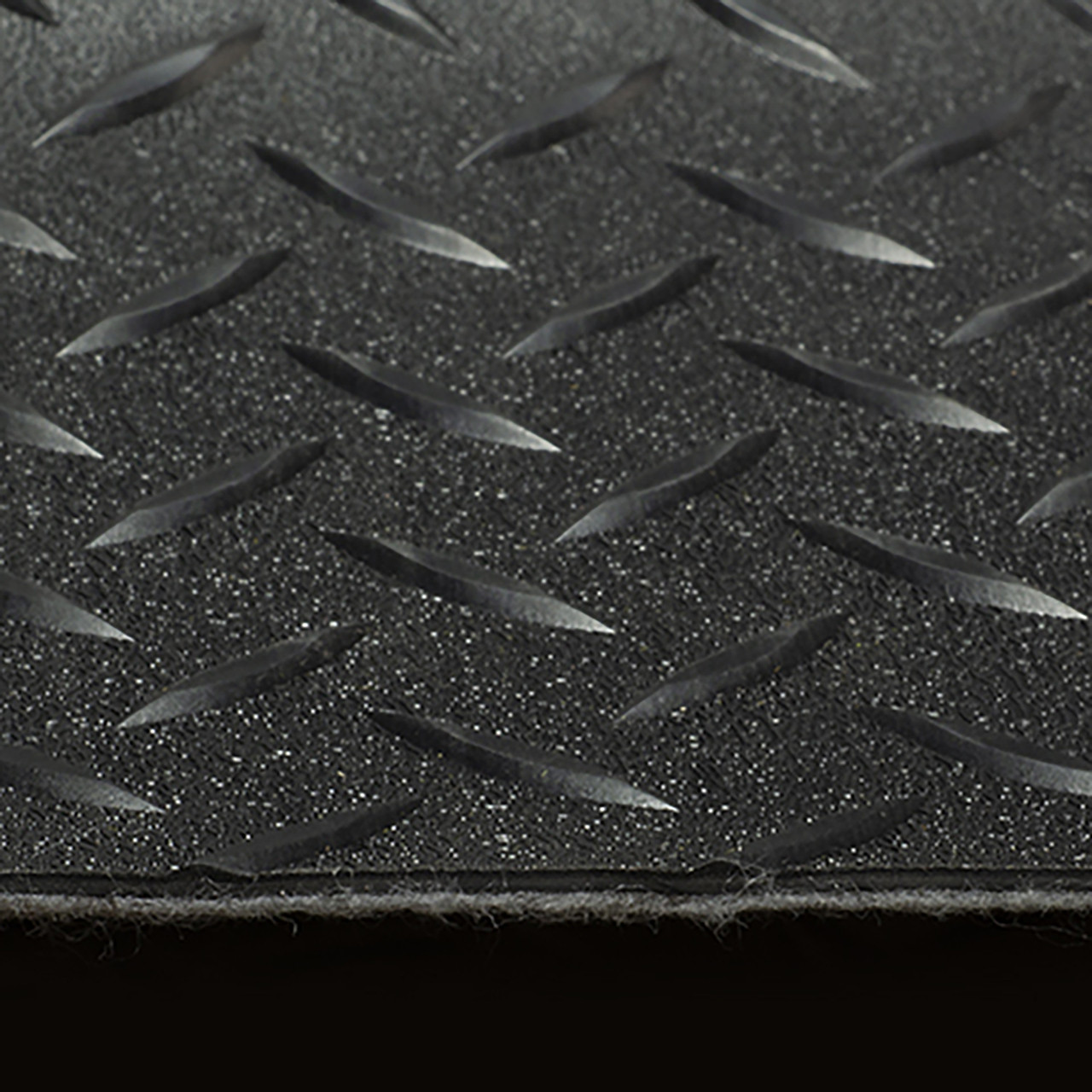 """By The Foot 8/' 6/"""" wide Diamond Plated Pattern RV Flooring Black"""