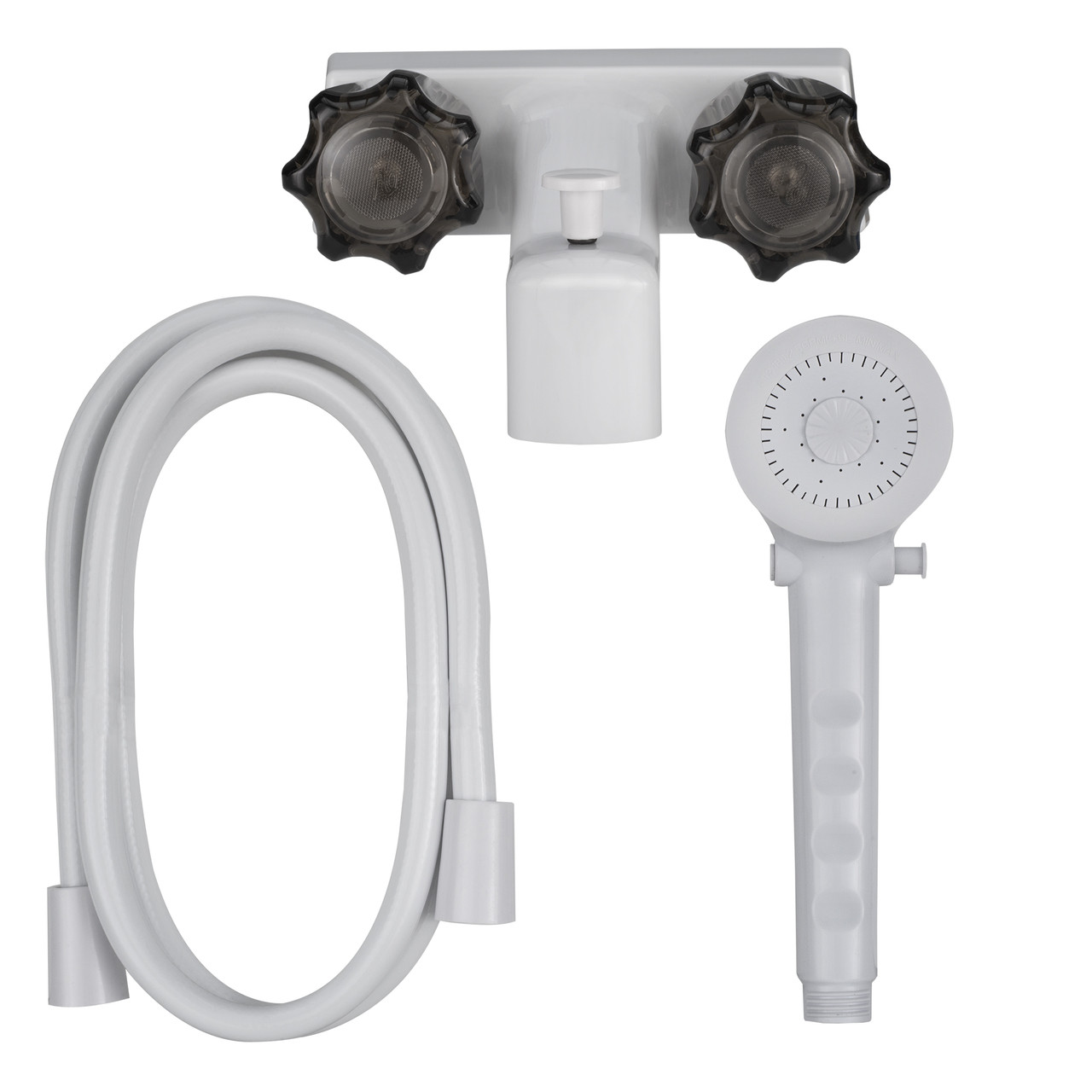 4 Rv Tub And Shower Diverter Faucet White Smoke With