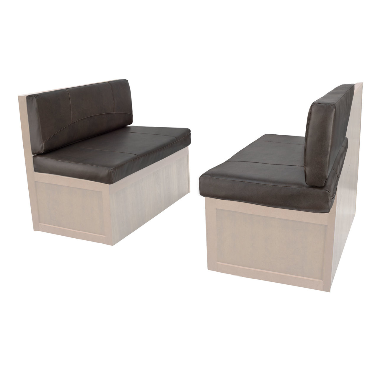 Charles style rv dinette cushions 38 to 44 with suprima leather and memory foam