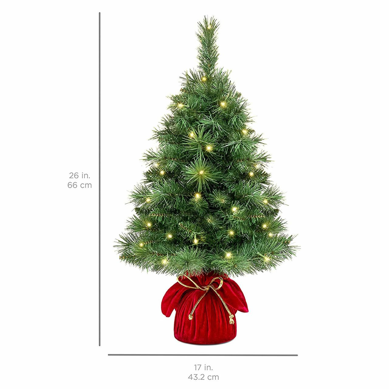 Pre Lit Outdoor Christmas Trees Battery Operated.26 Pre Lit Tabletop Fir Artificial Christmas Tree Battery