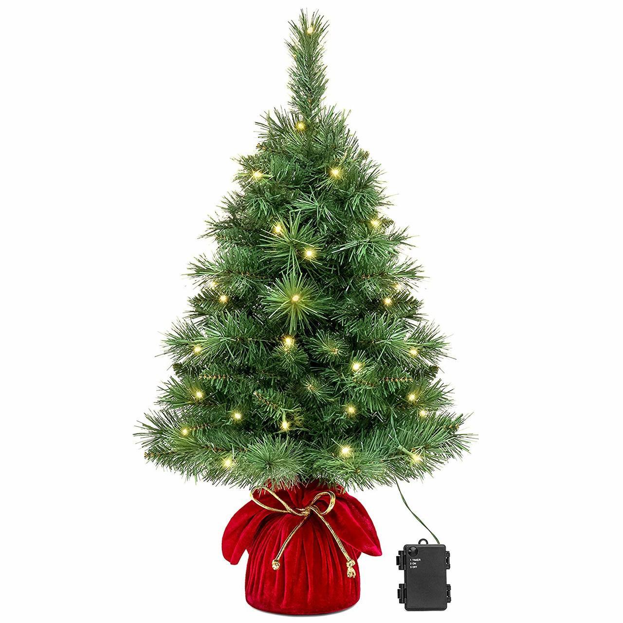 "26"" Pre-Lit Tabletop Fir Artificial Christmas Tree"
