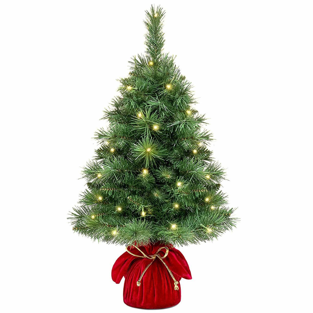 "Pre Lit Christmas Tree Fuses: 26"" Pre-Lit Tabletop Fir Artificial Christmas Tree"