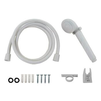 RV Handheld Shower Head and Hose with Shut Off White