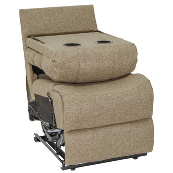 """RecPro Charles 22"""" RV Recliner and Drop Down Comfort Console w/ Cup Holders in Cloth"""