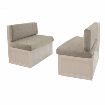 RecPro Charles RV Dinette Booth Cushions in Cloth with Memory Foam