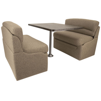 """RecPro 42"""" RV Dinette Booth Cloth with Optional Table and Leg"""