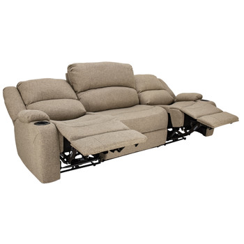"RecPro Charles 94"" Powered Double RV Wall Hugger Recliner Sofa RV Loveseat in Cloth"