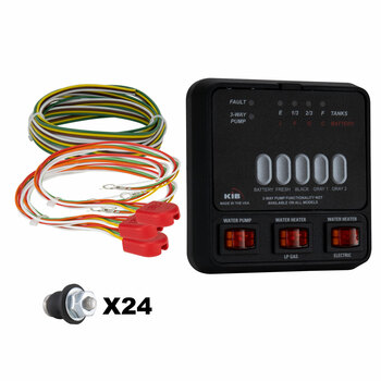 KIB Tank Sensor Monitor Panel M25 with Wiring Harness Kit