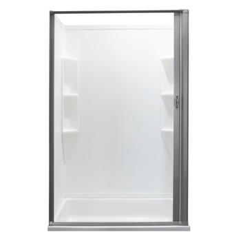 RV Retractable Rolling Shower Door Platinum