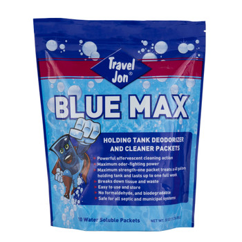 Travel Jon Blue Max Toss-In and Waste Digester Combo RV Holding Tank Treatment and Deodorizer