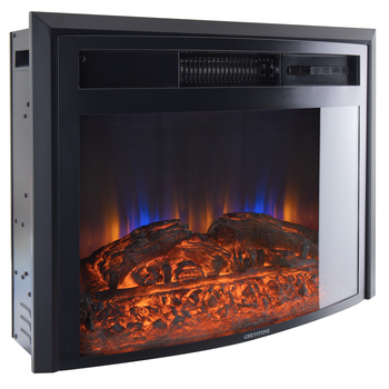 "28"" Electric RV Fireplace with Curved Glass"