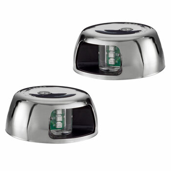 Deck Mount LED Navigation Light Set Red/Green
