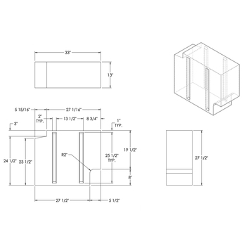 44 Gallon RV Water Tank 33 x 27 1/2 x 13 Elkhart Plastics EPI 4819