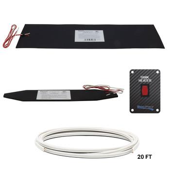 """RV Tank Heater Pad 7 1/4"""" x 25"""" 12V Kit"""