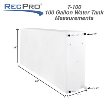 200 Gallon RV Water Tank Combo NSF Certified and BPA Free