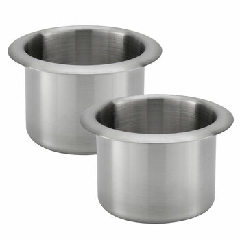 "Furniture Replacement 9"" Console Small Cup Holders in Chrome 2 Pack"