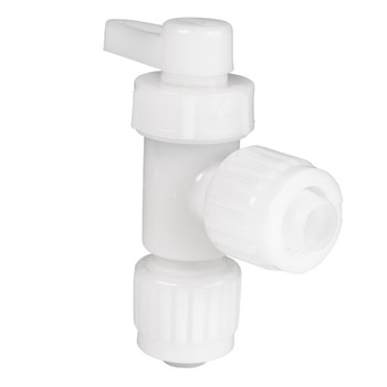 Flair It Barb-Barb Elbow Stop Valve Fitting