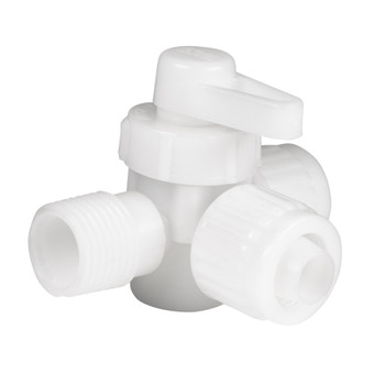 Flair It Male-Barb-Barb 3 Way Directional Valve Fitting