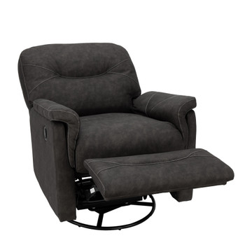 RV Swivel Rocker Recliner Joyful Gunmetal