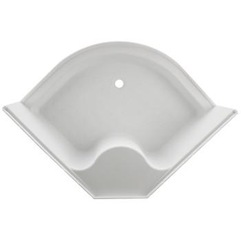 """RV Shower Pan 34"""" x 34"""" Corner Radius in White"""