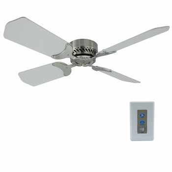 "RV Ceiling Fan 12V 36"" Brushed Nickel Finish"