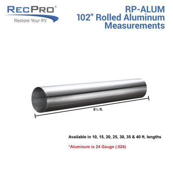 RV Aluminum Siding and Seamless Aluminum Roofing 102""