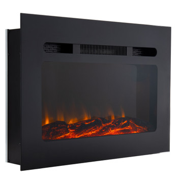 """36"""" RV Electric Fireplace with Flame Color Settings"""