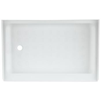 "RV Shower Pan 36"" x 24"" x 5"" Left Drain in White"
