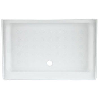 "RV Shower Pan 40"" x 24"" x 5"" Center Drain in White"