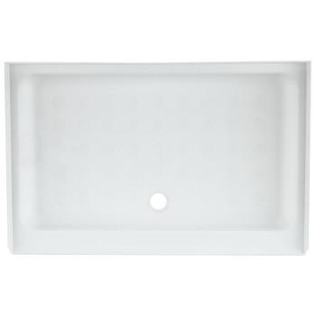 "RV Shower Pan 40"" x 24"" x 5"" Center Drain in White"