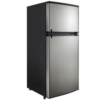 RV Refrigerator 4.5 Cubic Feet 12V Stainless Steel