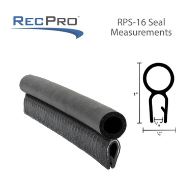 "RV Camper Pop-Up Roof Seal 1/2"" Bulb Compartment Gasket Seal Clip-On"