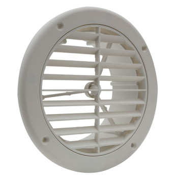 "RV AC Vent 5"" with Optional Charcoal Filter White"