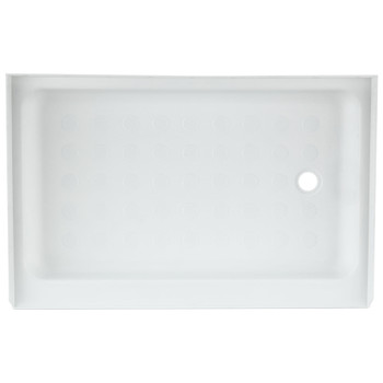 "RV Shower Pan 36"" x 24"" x 5"" Right Drain in White"