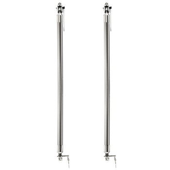 "Concession Support Bar Stainless Steel 24"" Pair"