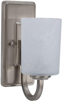 RV Side Wall Sconce Light Satin Nickel Frosted Glass 110V