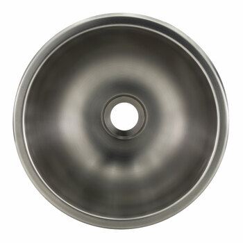"RV 13"" Round Stainless Steel Sink"