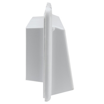 RV Range Vent Cover with Locking Damper White