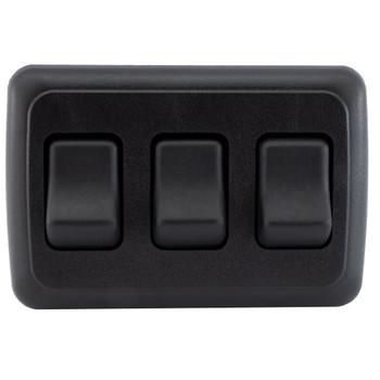 RV Switch On / Off 3 Gang Bezel