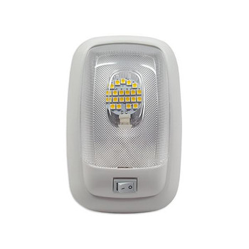 Single Dome LED Pancake RV Light- 4200K Neutral White