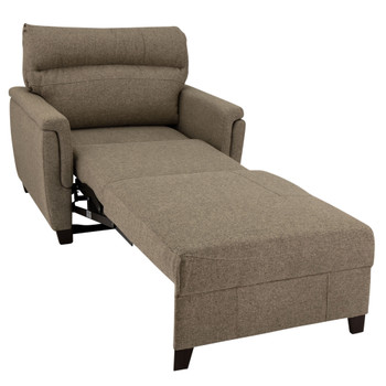 "RecPro Charles 42"" Easy-Out Trifold Club Chair in Cloth"