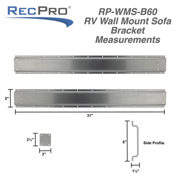 RV Wall Mount Rollover Sofa Wall Support Brackets with Hardware